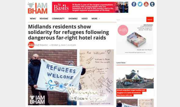 Migrant Voice - MV takes part in refugee solidarity demonstration in the West Midlands