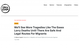 Migrant Voice - MV member and Migrant Ambassador writes for Each Other about her connection to one of the Essex 39 victims