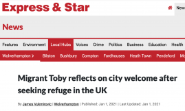 Migrant Voice - MV member and Migrant Ambassador speaks to local paper about his experiences as a migrant in the UK
