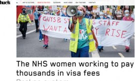 Migrant Voice - MV members & Director speak to Huck Magazine about extortionate visa fees