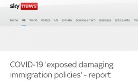 Migrant Voice - Sky News covers our new Building Resilience report
