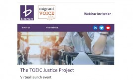 Migrant Voice - Join us for a webinar to launch the TOEIC Justice Project