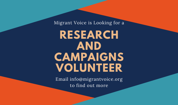 Migrant Voice - Join our volunteer team