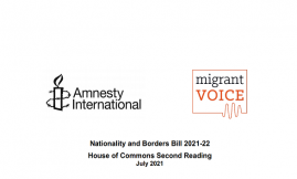 Migrant Voice - Migrant Voice and Amnesty International release Borders Bill briefing
