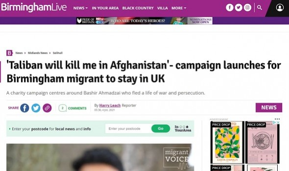 Migrant Voice - Birmingham Mail covers Bashir's campaign after Meet the Editors