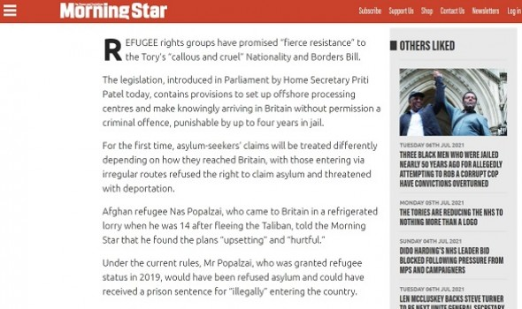 Migrant Voice - MV Ambassador speaks out to Morning Star