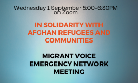 Migrant Voice - MV Emergency Network Meeting
