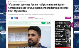 Migrant Voice - MV member Bashir speaks to Birmingham Mail on Afghanistan crisis