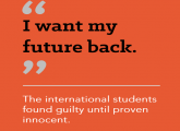 Migrant Voice - My future back, the international students found guilty until proven innocent