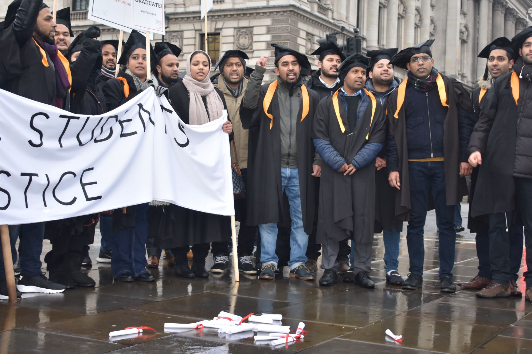 five years in limbo international students go to westminster to call for justice