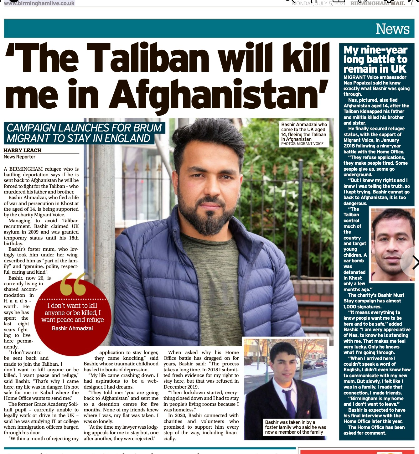 birmingham mail covers bashirs campaign after meet the editors