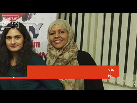 shirin shares her bilingual poetry on local radio in birmingham